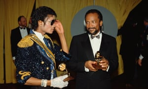 Michael Jackson and Quincy Jones at the 1984 Grammy Awards.