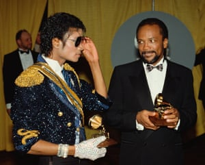 Jones with Michael Jackson at the 1984 Grammys.