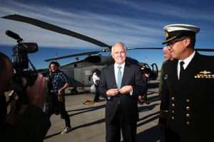 Prime minister Malcolm Turnbull pays a visit to HMAS Albatross in Nowra, NSW, on Wednesday.