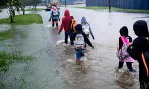 Sewage, debris, mosquitoes: flood waters increase health risk for Harvey victims
