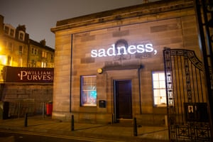 William Letford's lyrical letter full of nostalgia and humour is projected on to Leith Library