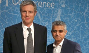 Zac Goldsmith and Sadiq Khan at the London Conference in November 2015.