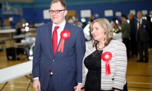 Gareth Snell and wife Sophia arrive at Fenton Sports Centre.