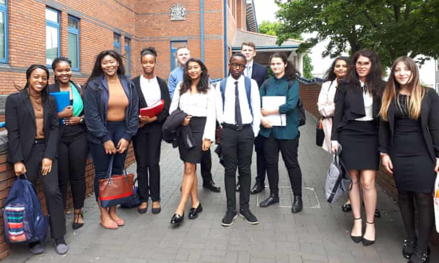 Volunteers provide legal admin assistance on a Keele University law school project.