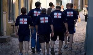 Stag group of British men in Prague