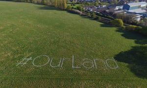 Local campaigners spray-painted the park in response to Ealing borough council's decision to give away public land to QPR football club.