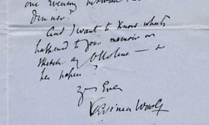Woolf was 'exposed to raids' … the author's letter to Philip Morrell, which is up for auction.