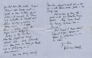 Pages two and three of Virginia Woolf's three page letter to Philip Morrell, written in 1940.