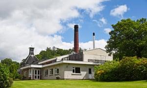 Dewar's Aberfeldy Whisky Distillery, Scotland.