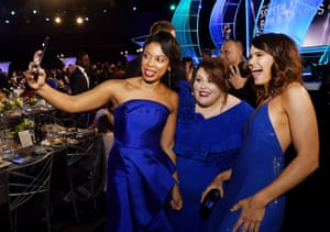 Susan Kelechi Watson, Chrissy Metz and Mandy Moore from This Is Us go for matching dresses