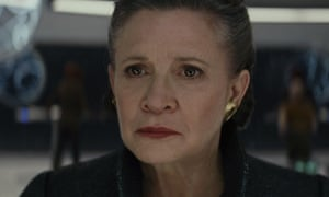 Swansong ... Carrie Fisher as General Leia.