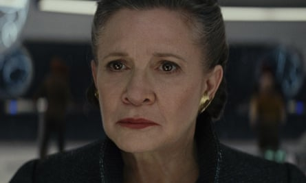 Not done yet … Carrie Fisher in The Last Jedi.