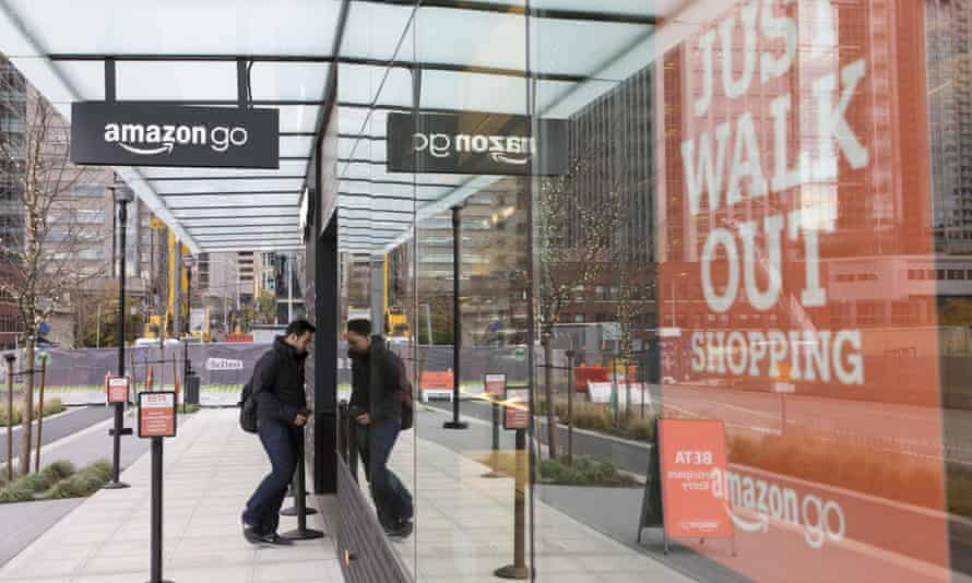 An Amazon Go store in Seattle, which is currently open only to employees.