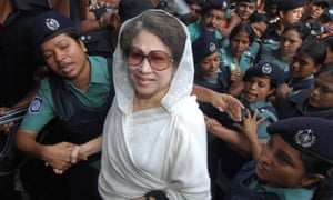 Khaleda Zia, former Bangladesh prime minister, withdrew her Bangladesh National party from last year's national poll and is seeking new elections.