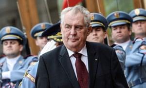 The Czech president, Milos Zeman, has backed Russia's stance on Ukraine.
