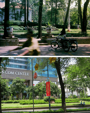 The Vincom Center in Ho Chi Minh city - before and after