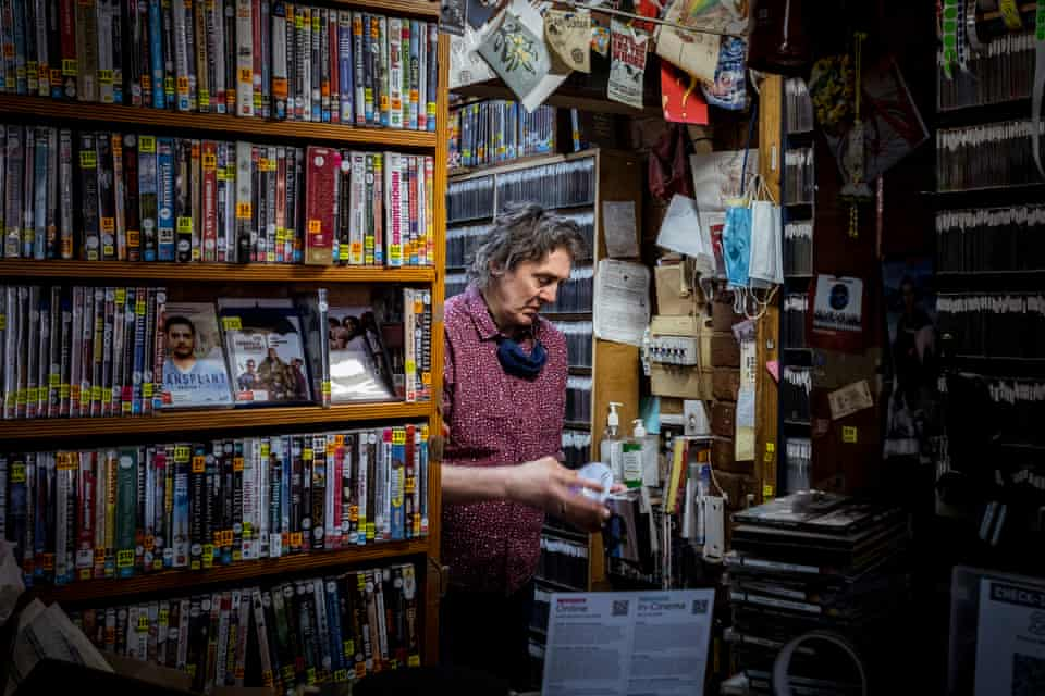 Derek de Vreught, the owner of Picture Search, the last DVD rental store in Melbourne, Australia