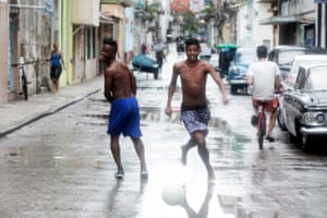 Playing in the streets of Centro Havana