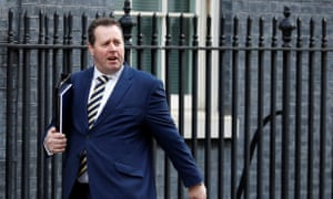 Mark Spencer, the chief whip, outside No 10 this morning.