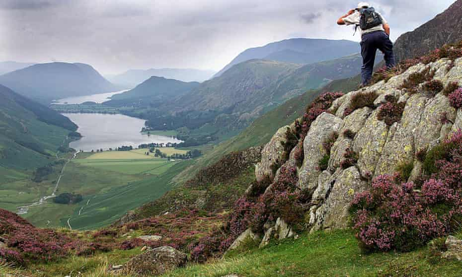 Looking down on Buttermere on the route of rambler Alfred Wainwright's favourite walk to Hay Stacks in the Lake District.