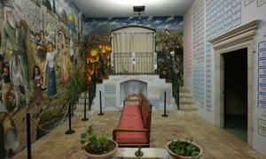 The basement includes a dedication to the history of the Palestinian struggle, with the names of lost villages listed on the wall.