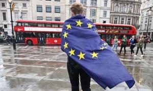 Anti-Brexit protester, London, June 2016