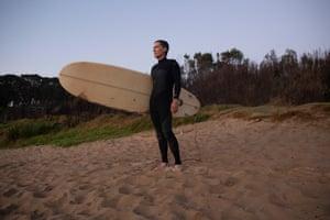 Nick Hopkins on McKenzies beach at dawn