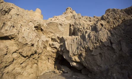 The entrance of the Malham cave.