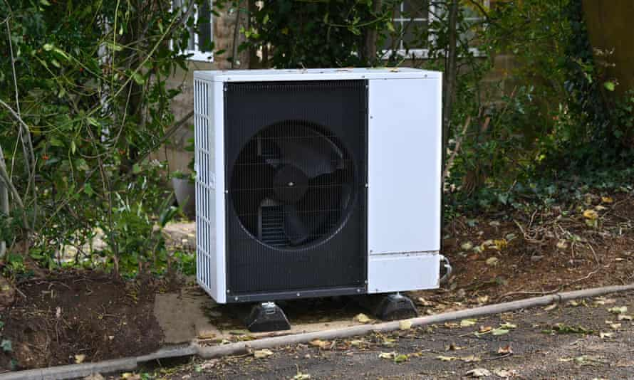 An air source heat pump for a house in Oxfordshire.