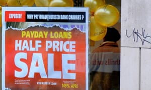 Adver in a payday loans shop