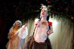 Love story … Mat Fraser with his wife Julie Atlas Muz in Beauty and the Beast.