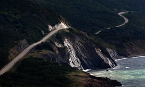 The Cabot Trail highway in the Cape Breton Highlands national park, Nova Scotia.