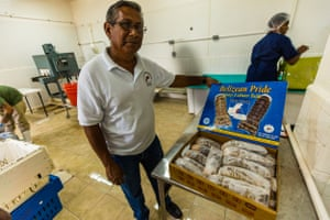Elmer Rodriguez, president of the National Fisherman's cooperative, in Belize City