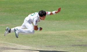 Mohammad Musa of Pakistan bowls during day 2 of the tour match.