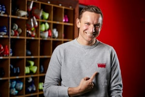 Pepijn Lijnders, Liverpool FC assistant manager, at the club's Melwood training ground.