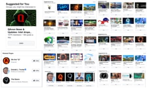 More than 100 Facebook pages, profiles, groups, and Instagram accounts with at least 1,000 followers or members each dedicated to QAnon.