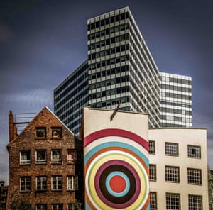 """Colourful Mixture, by Volker Sander, taken in Hamburg, Germany: """"This picture shows the peaceful coexistence of old and new architecture. The buildings don't fit together, but they are not fighting against each other."""""""