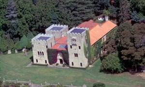 Aerial view of the Pazo de Meirás, Francisco Franco's summer residence