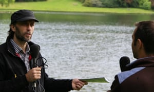 Alan Power recording the podcast at Stourhead - National Trust gardens podcast
