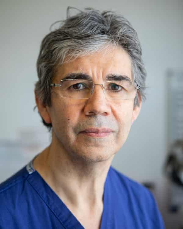 David Nott photographed at Chelsea and Westminster hospital.