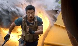 Wu Jing in Wolf Warriors 2.
