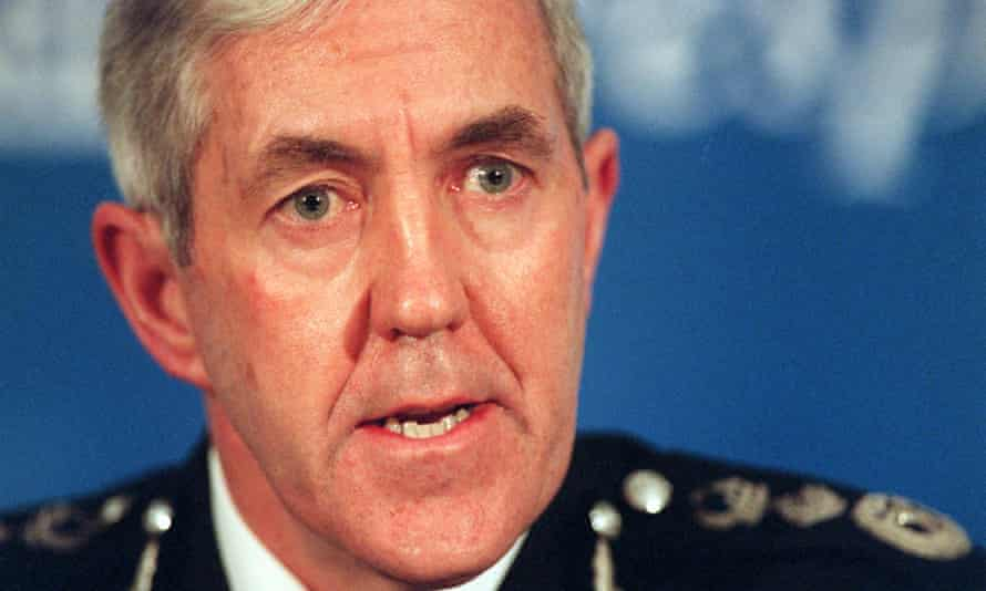Then-Metropolitan police commissioner Paul Condon, at the time of the Macpherson report.