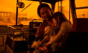 Shelley Caban and her daughter Pearl on their bus at the Eden wharf on Saturday.
