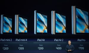 Phil Schiller, Senior Vice President of Worldwide Marketing for Apple, speaks about the new iPad Pro during a media event in San Francisco.