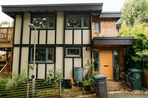 """Walter's Way, a small cul-de-sac in south London, made up of """"self-build"""" houses, a concept created by the late German architect Walter Segal."""