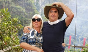 Danny Baker and his wife Wendy in the jungle
