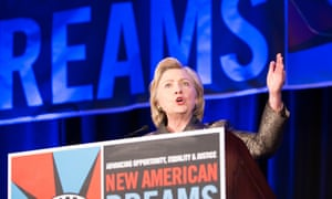Hillary Clinton speaks at the National Immigration Integration Conference in Brooklyn.