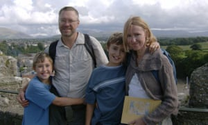 The Letts family on holiday in Snowdonia, with Jack, aged 12, on the right, and his younger brother Tyler on the left.