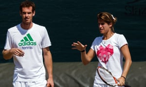 Andy Murray and Amélie Mauresmo