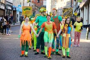 Hubbub Theatre Company perform 'The (not so) quiet revolution of kindness'.